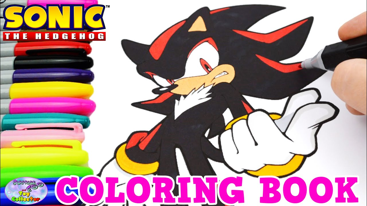 sonic the hedgehog coloring book shadow episode speed coloring