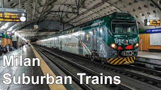 🇮🇹 suburban trains in milan (trenord) (passante) - treni suburbani a milano (4k) (2020)