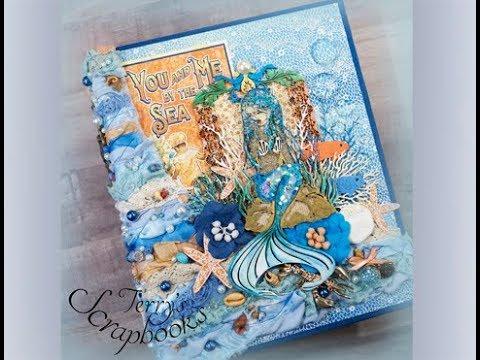 Graphic 45 Sunkissed Scrapbook Mini Photo Album Reneabouquets Design Team Project