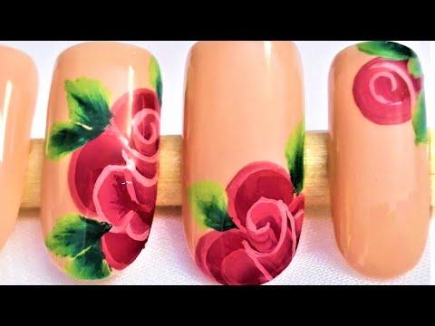 Facil Diseño De Uñas Con Rosas Decoración De Uñas Rosas Diseño Fácil De Uñas Con Rosas Rojas