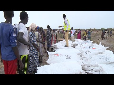 Airdrops feeding thousands in South Sudan, but some in need still lose out