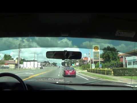 Driving through Downtown Inverness, FL on U.S. Route 41 N