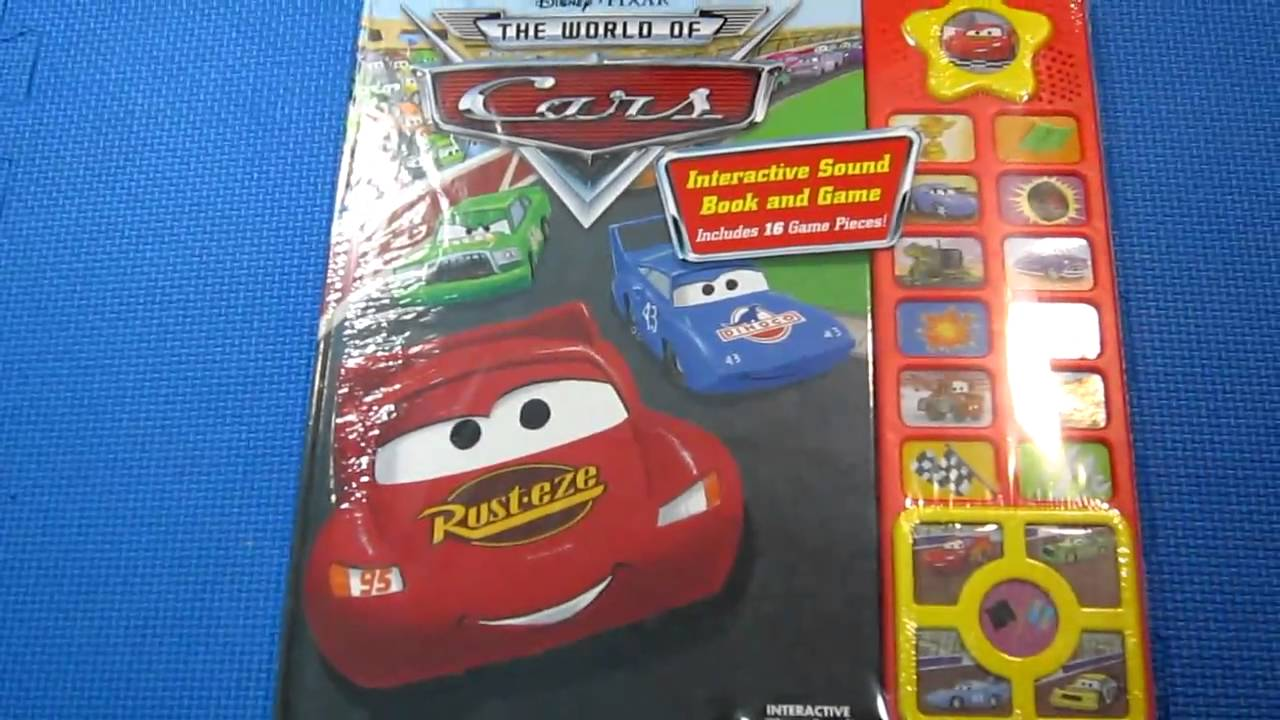 disney cars interactive play a sound book youtube