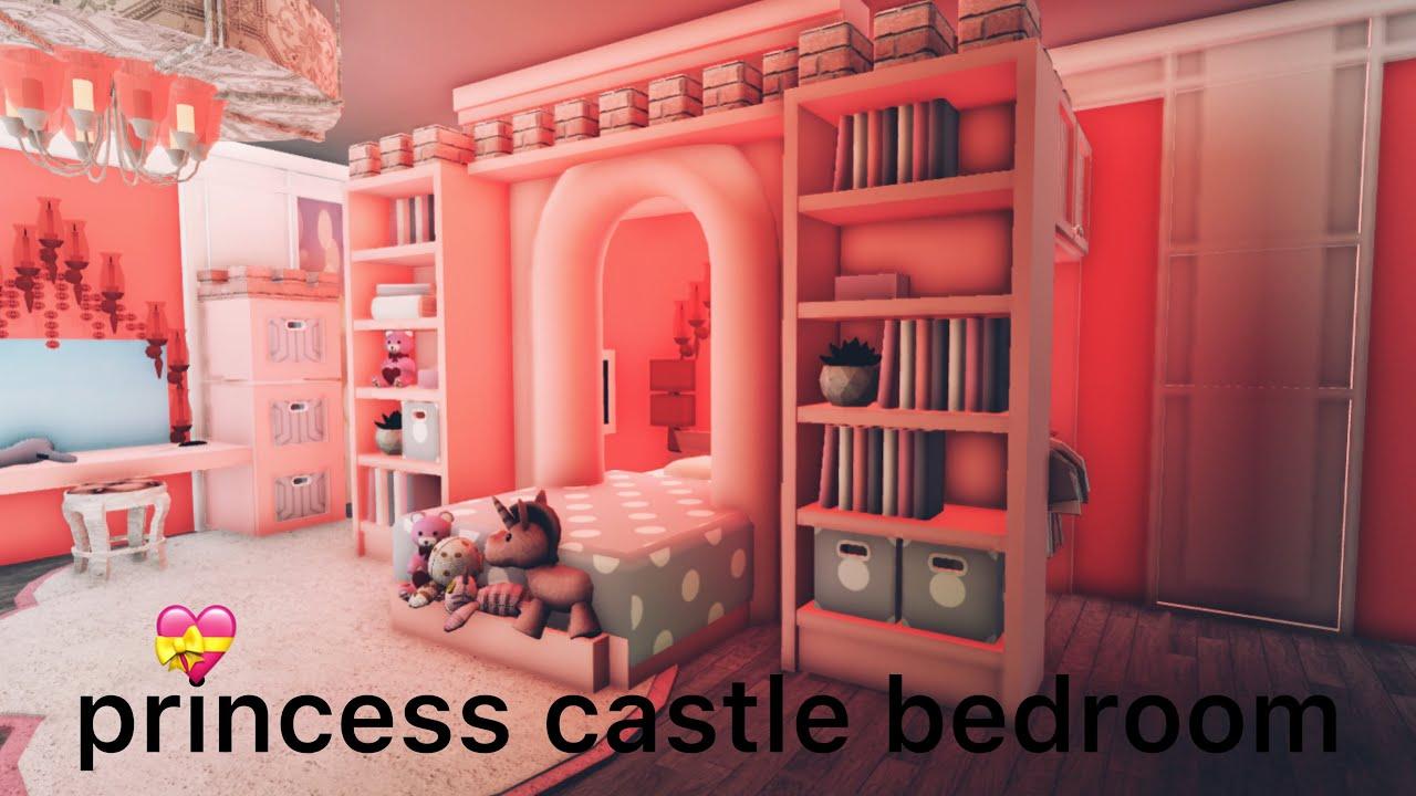 Bloxburg Kids Princess Castle Bedroom Hacks Speedbuild Youtube