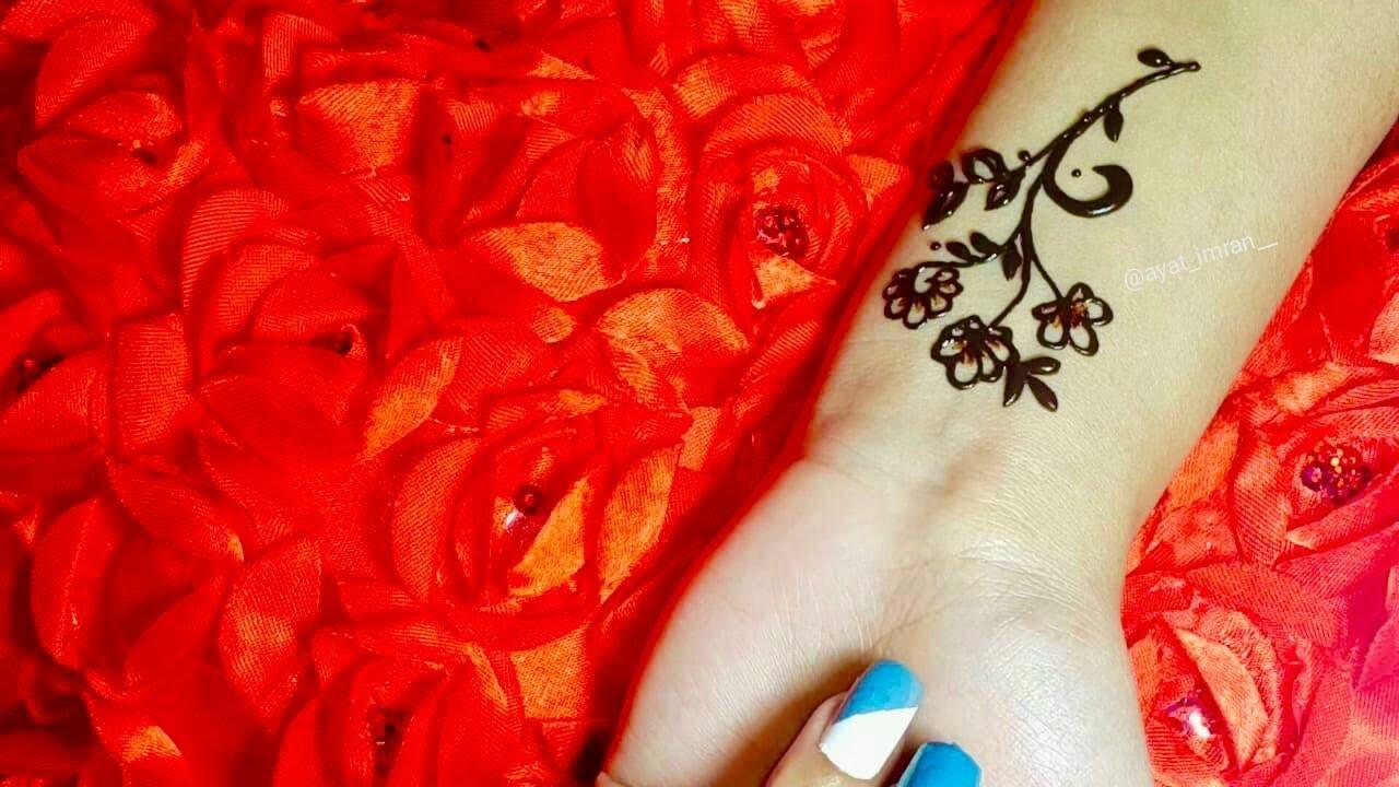 #shorts Beautiful flower Mehndi Design For Eid//#Tattoo mehndi design//#Eid short mehndi design 2021