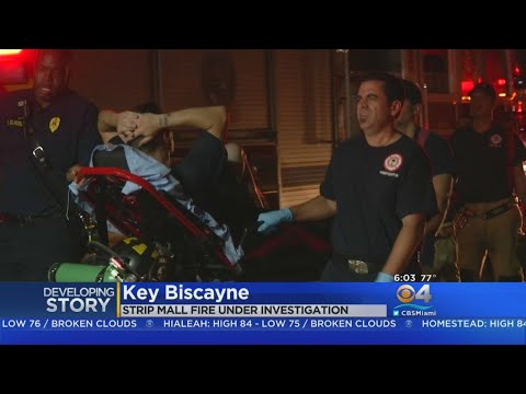 Firefigher Injured In Key Biscayne Strip Mall Blaze