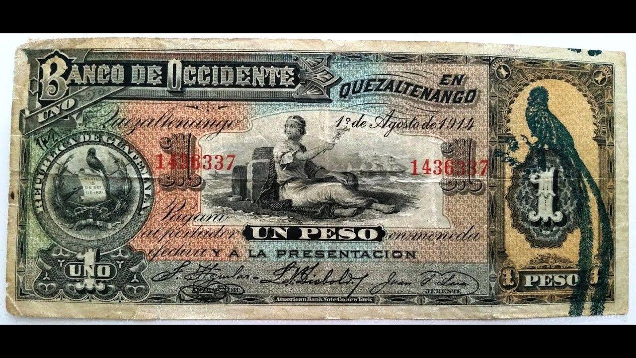 Precios De Los Billetes Guatemala Pesos Y Quetzales