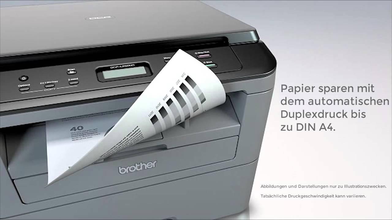 brother laserdrucker dcp l2500d mit scanner produktvideo youtube. Black Bedroom Furniture Sets. Home Design Ideas