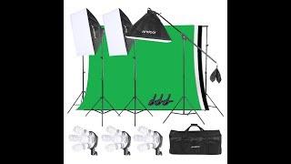 Home Studio - Andoer Photography Softbox Backdrop Lighting Kit - is it worth it??? screenshot 4
