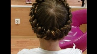 коса- корона (венок) косы (серия 2) видео-урок.