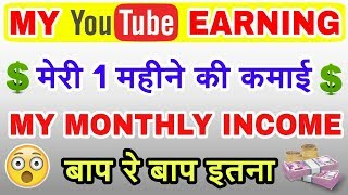 My Monthly YouTube Income    My YouTube Earning    Revealed