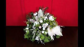 ŚWIĄTECZNA KOMPOZYCJA W SZKLE ...Jak ułożyć świąteczny stroik ?