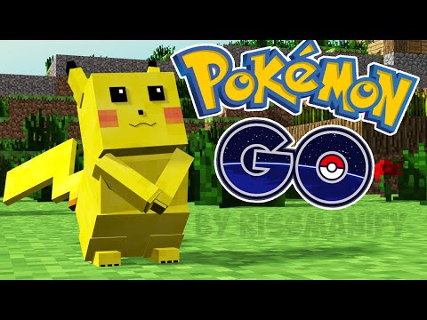 видео: pokémon go in minecraft! ПОКЕМОН ГО В МАЙНКРАФТ БЕЗ МОДОВ ( пикачу и покеболы )