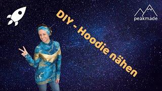 Hoodie / Pullover nähen mit Teilung aus Kunstleder