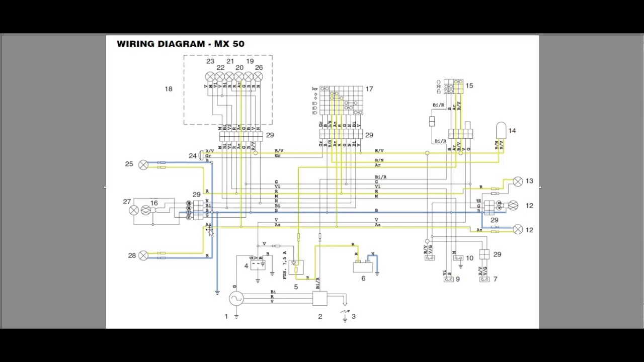 Step By Guide Understanding Motorcycle Wiring Diagrams Youtube 110 Cc Engine Electric Start Diagram Tuning