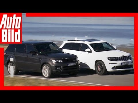 Range Rover Sport Vs Jeep Grand Cherokee SRT8 YouTube