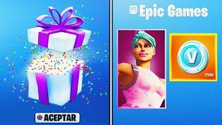 FORTNITE WILL GIVE FREE THINGS TO ALL PLAYERS! FORTNITE REGALA MOCHILA FREE!