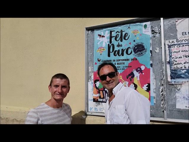 Fête du Parc   28 sept 2019    Collage affiches Antoine et Eric
