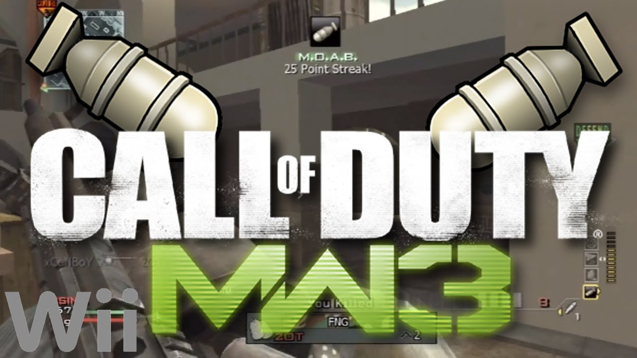 Mw3 M O A B Nuke Killstreak Wii Modern Warfare 3 Wii Gameplay Youtube