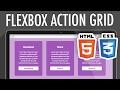 Flexbox Action Grid HTML5 CSS3   XO PIXEL