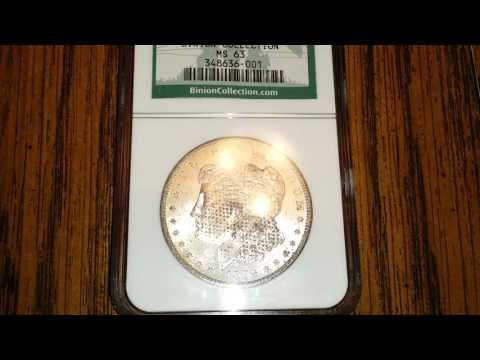 1879 Silver Morgan Dollar NGC Binion Collection