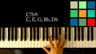 How To Play A C7b9 Chord On The Piano