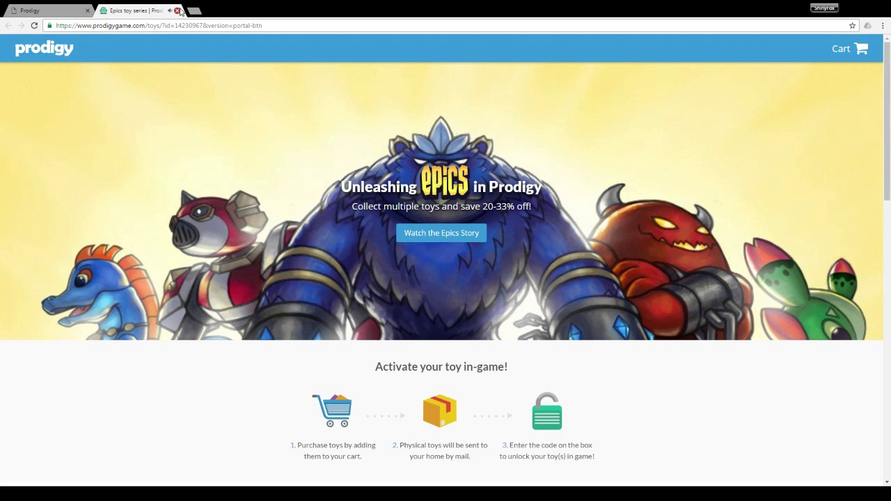 Prodigy Epics Toys : Prodigy what happens when you go through the portal with