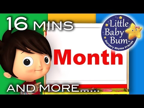 Thumbnail: Months Of The Year Song | Plus More Nursery Rhymes | Original Song by LittleBabyBum!