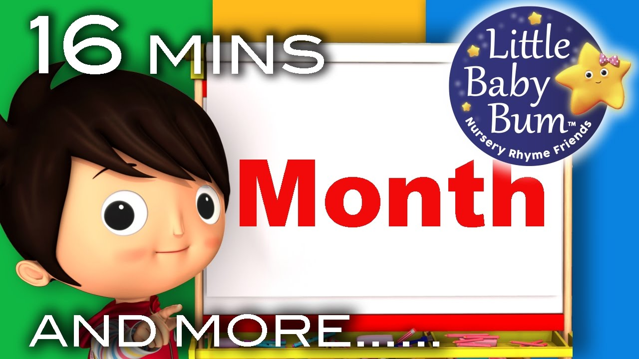 Months Of The Year Song Plus More Nursery Rhymes Original Song By Littlebabybum Youtube