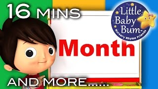 Months Of The Year Song | And More Nursery Rhymes | Original Song by LittleBabyBum