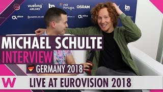 Michael Schulte (Germany) Interview @ Eurovision 2018 | wiwibloggs