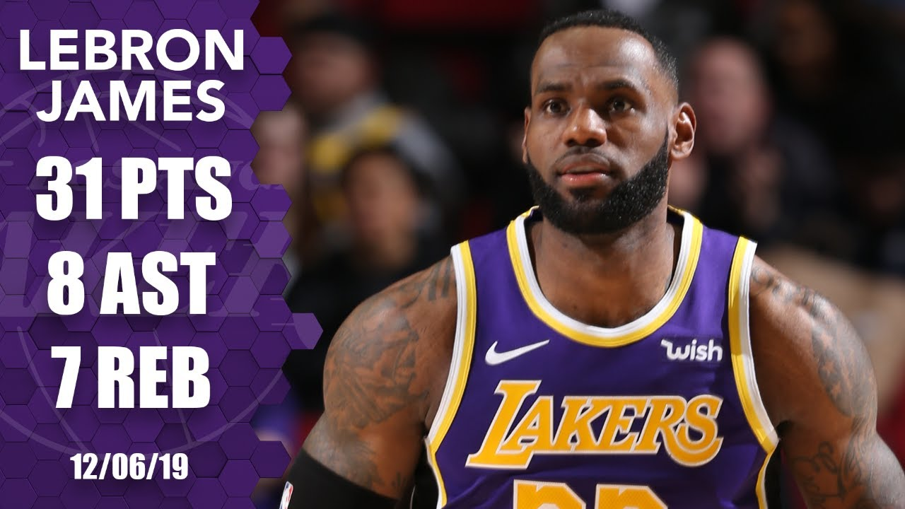 LeBron James tallies 31 points in Lakers vs. Blazers | 2019-20 NBA Highlights