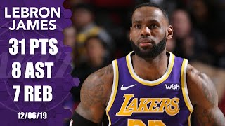 LeBron James drops 31 points, helps courtside vendor vs. Blazers | 2019-20 NBA Highlights