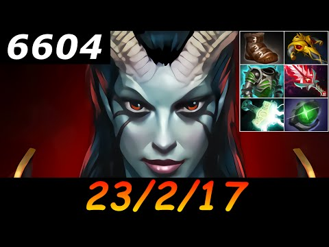 Dota 2 Queen of Pain 6604 MMR 23/2/17 (Kills/Deaths/Assists) Ranked Full Gameplay