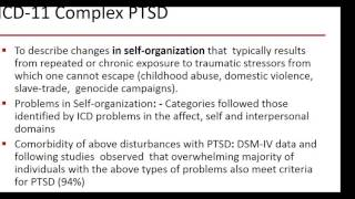 Complex PTSD Treatment and Updates from ICD - Marylene Cloitre