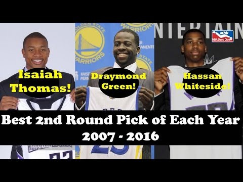 Top NBA Draft Second Round Picks Each Year 2007-2016 (Isaiah Thomas & Draymond Green!)