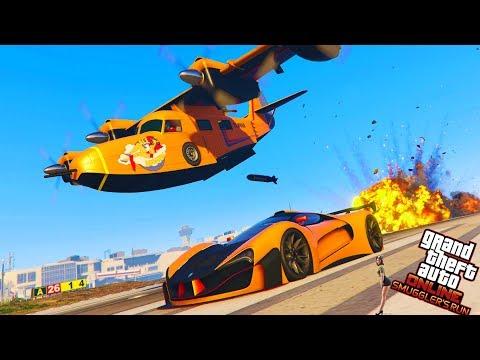 GTA 5 New Game Mode: BOMBS AWAY!!! - GTA 5  SMUGGLER'S RUN DLC - (GTA 5 SMUGGLER'S RUN DLC UPDATE)