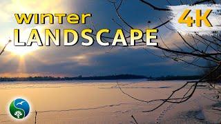 КАЗКОВО!! На річці взимку. Зима, природа, на річці, вечір, рибалки, музика, релакс, медитація