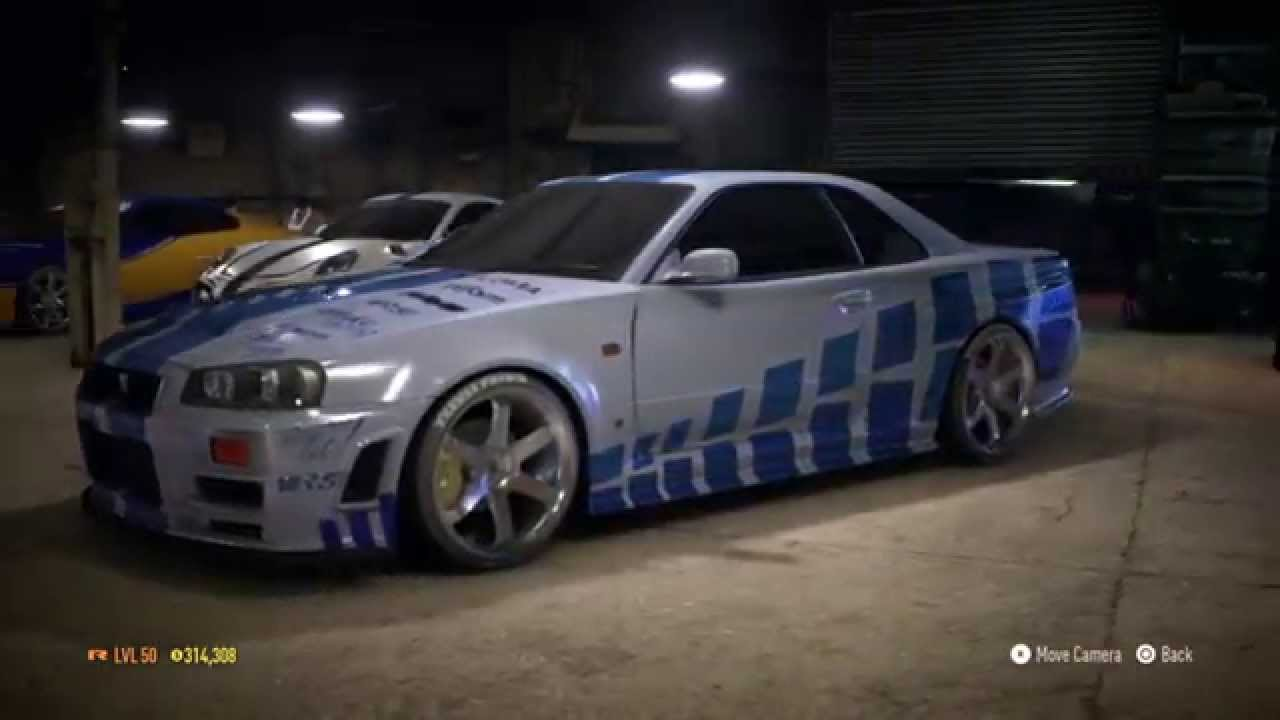 Need For Speed 2015 Fast And Furious Brian S Skyline R34