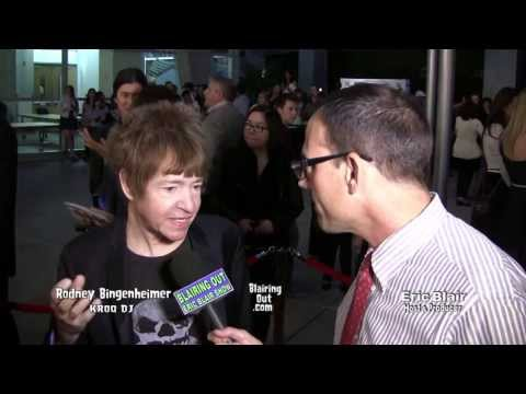 KROQ DJ Rodney Bingenheimer Talks w Eric Blair @ The CBGB Premiere Red Carpet 2013