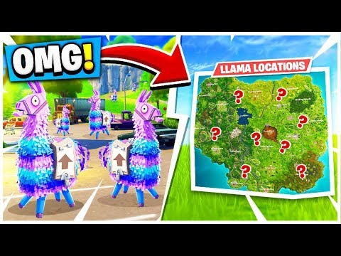 SEARCHING FOR LLAMAS IN FORTNITE