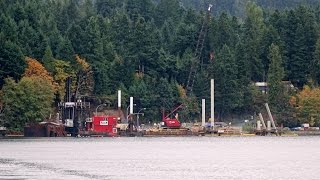 Denman Island cable ferry berth construction