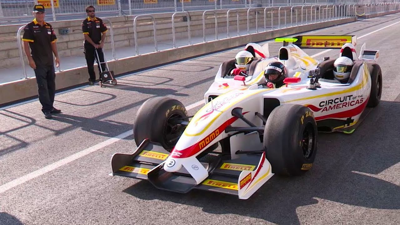 3-Seat F1 Car - Circuit of the Americas - YouTube