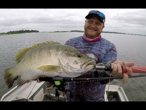 Wild PNG Black Bass! 6 Day Live Aboard Trip Jungle With PNG Sports Fishing.