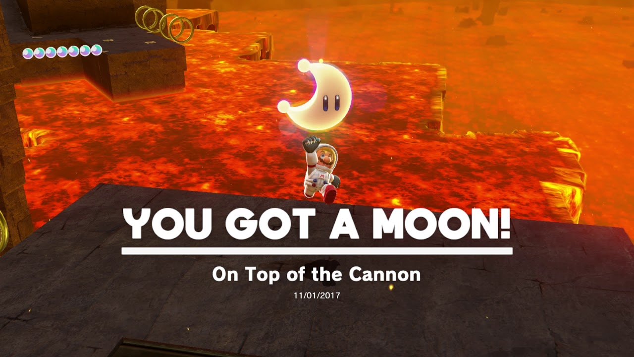 Super Mario Odyssey Moon Kingdom Moon 12 On Top Of The Cannon