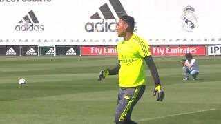 Some sensational saves by Keylor Navas and Kiko Casilla in training!