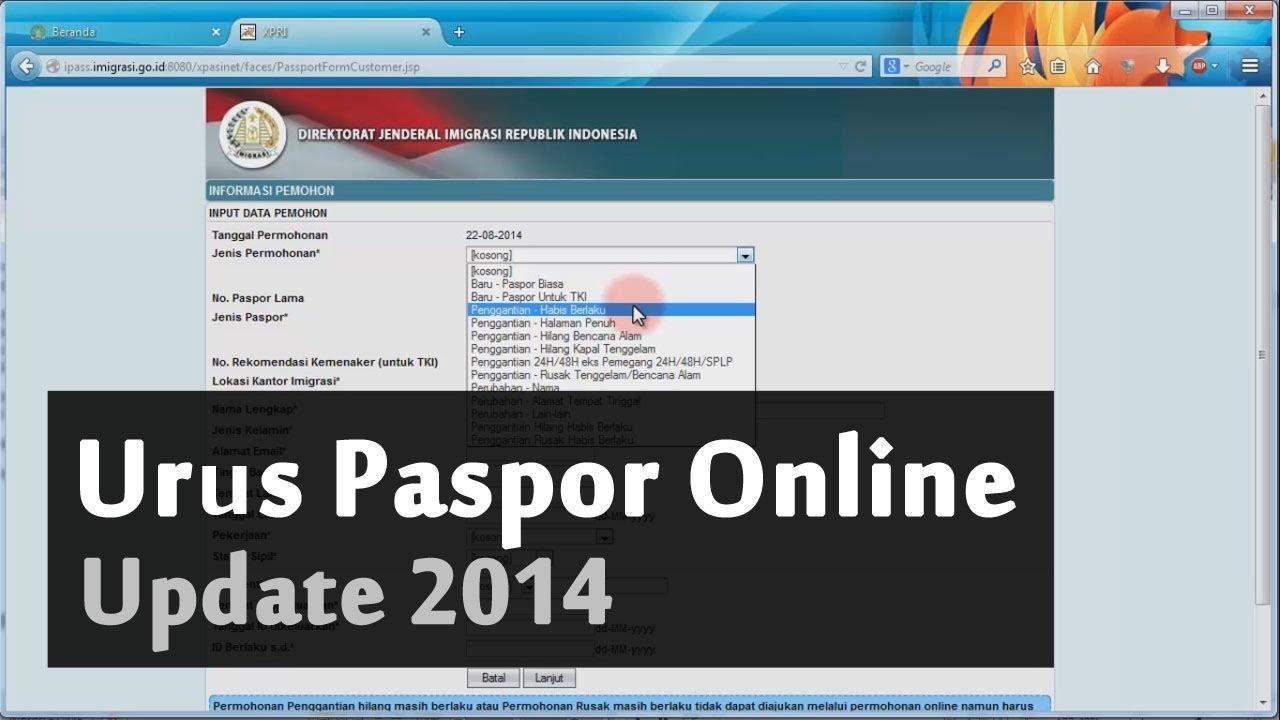 Cara Membuat Paspor Online Update 2014 Youtube
