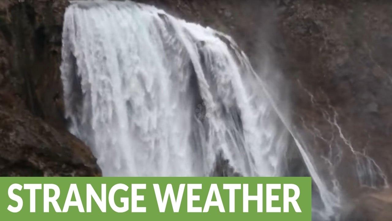 waterfall-in-croatia-blown-upwards-by-high-winds
