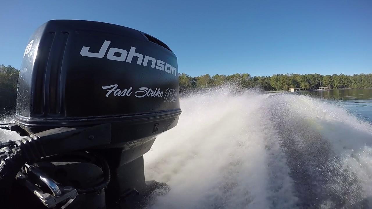 Johnson Fast Strike 150 V6 on 1993 Glasstream 1850 Pro Bass Boat