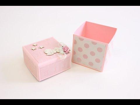 Ревю на хартиите на Kaisercraft Peekaboo Girl и DIY кутия за бебшки съкровища